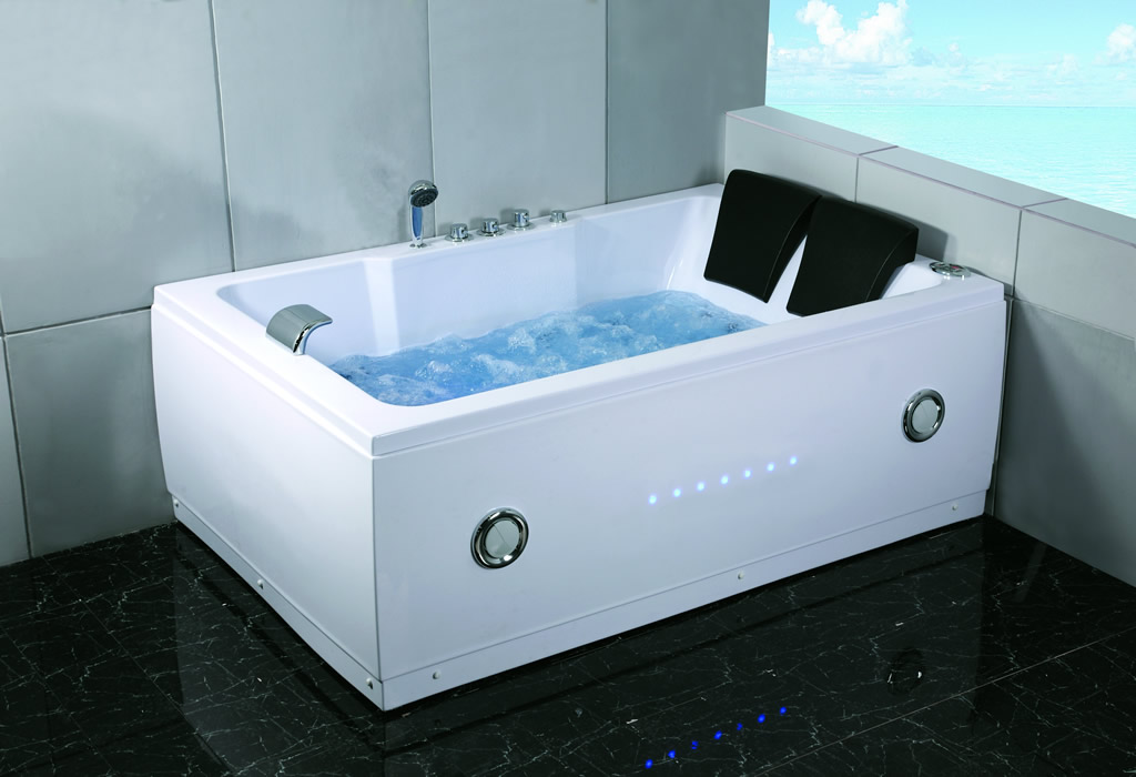 New 2 Person Indoor Whirlpool Jetted Hot Tub SPA Hydrotherapy ...