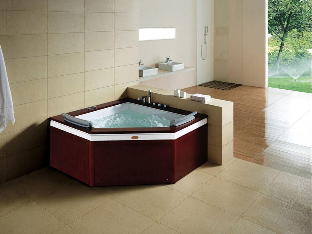 Indoor Two 2 Person Whirlpool Hydrotherapy Massage Spa Bathtub Corner Bath Tub Ebay