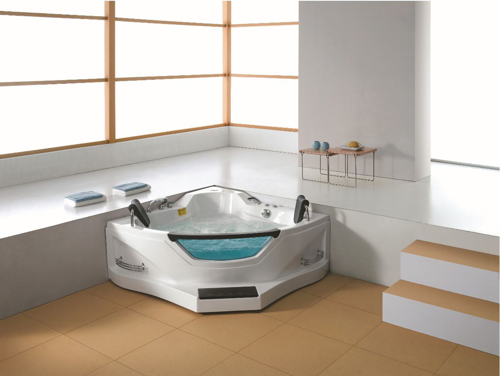 Details About Two 2 Person Corner Hydrotherapy Whirlpool Bathtub Spa Massage Therapy Hot Tub
